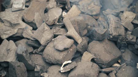 furioso : Fire coals, burning charcoal as background