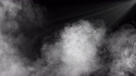 floodlight : Abstract Smoke, Fog and Spotlight In Dark Background Stock Footage