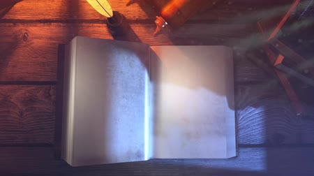 holy scripture : Old Magic Book Flipping clear page