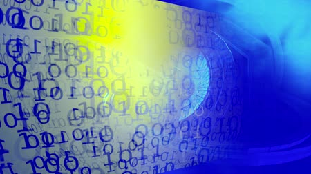 linked : Technology background. Binary Code. Abstract Big Data. Data stream