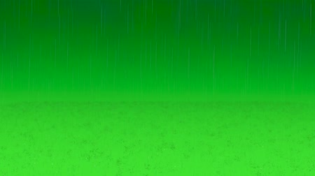 гром : Realistic rain and water drops with green screen background. Animation