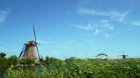 moinho de vento : Old wind mill in Holland. The netherlands