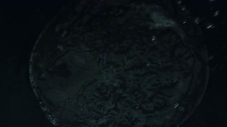 носик : Water splash. Slow motion of bubbling water in detail