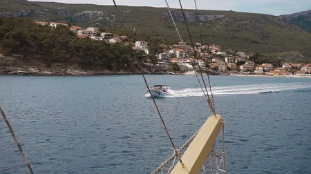 magánélet : Beautiful view from the ship to the old town of Hvar. Hvar Island Croatia