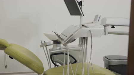 forro : Special equipment for the dentists office. Dental office Stock Footage