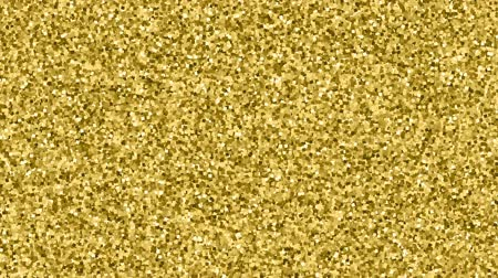 âmbar : Flicker Golden Confetti. Gold Glitter Texture Motion On Black Background. Loop Unique Design Abstract Digital Animation.