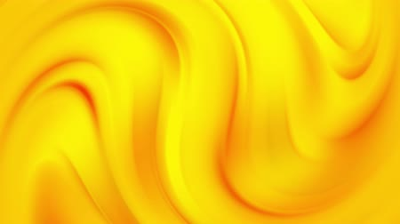 Fluid Gradients Motion. Blurred Yellow And Orange Smooth Waves. Colorful Liquid Video Background. Abstract Futuristic Design. Digital Animation.