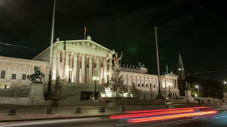 bohyně : Night view of the parliament in Vienna