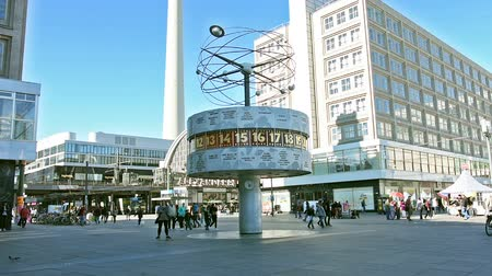 urania : A view of the Urania Weltzeituhr in Alexanderplatz in Berlin
