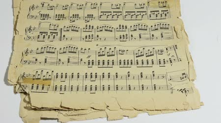 sonata : some old sheets of a musical score