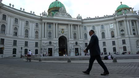 hofburg : The facade of the Hofburg palace in Vienna Stock Footage