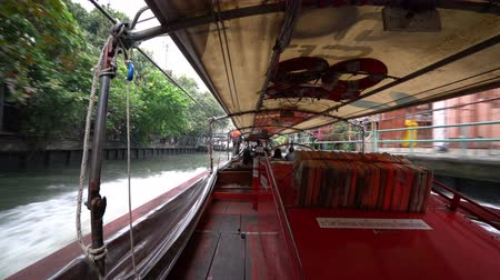 saen : a view of Khlong Saen Canal from a typical boat in Bangkok, Thailand.