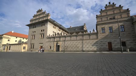 hradcany : view of the facade of the Schwarzenberg palace in Prague, Czech republic Stock Footage