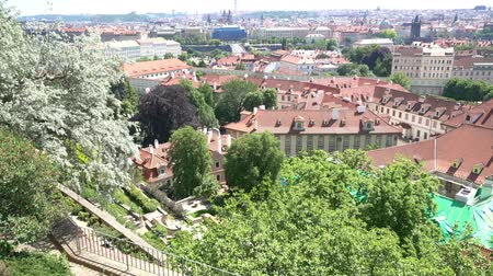 namesti : View of the Ramparts Garden from the Prague Castle, Czech Republic