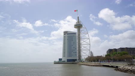 lizbona : A view of Vasco da Gama tower in Lisbon, Portugal
