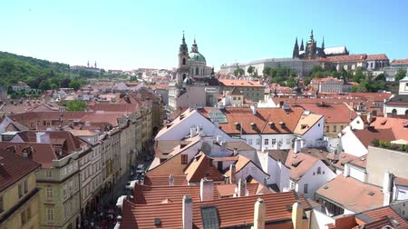 Богемия : view of the roofs of Prague, Czech Republic
