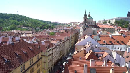 cseh : Panoramic view of St. Vitus cathedral in Prague, Czech Republic