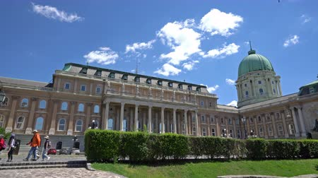 capitol : view of the Hungarian National Gallery building in Budapest, Hungary Stock Footage