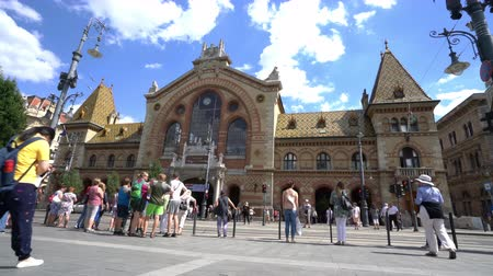largest city : covered central market palace in Budapest, Hungary