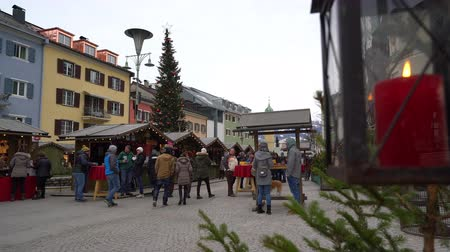 adviento : Lienzer Adventmarkt en Lienza, Austria Archivo de Video