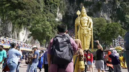 the view of the crowd at Batu Caves in Kuala Lumpur, Malaysia