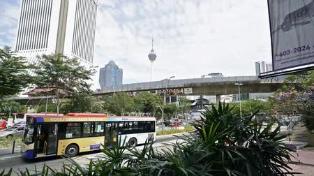 A view of the chaotic traffic on the streets of Kuala Lumpur, Malaysia