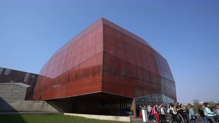 Warsaw, Poland. April 2019. external view of the Planetarium building