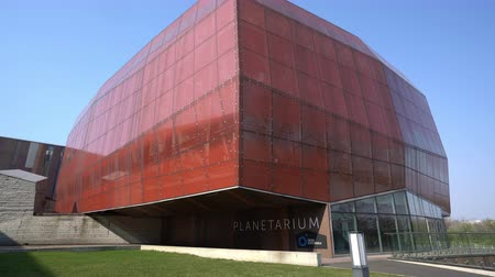 vysvětlující : Warsaw, Poland. April 2019. external view of the Planetarium building