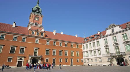 Warsaw, Poland. April 2019. the inner courtyard of the castle