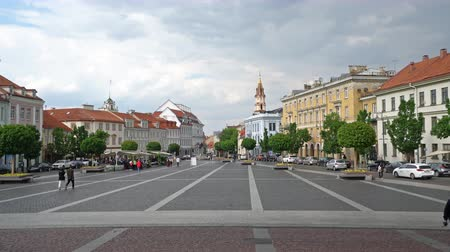 Литва : Vilnius, Lithuania. May 2019. A view of Town Hall Square in the downtown