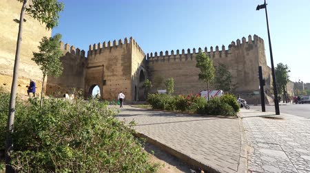 arabian : Fes, Morocco. November 9, 2019. the panoramic view of the old city walls