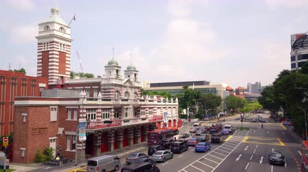 tényleges : Singapore. January 2020. A view of the Central Fire Station building Stock mozgókép
