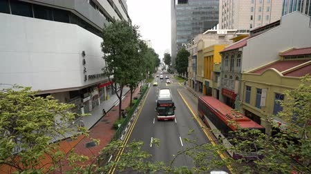 チラシ : Singapore. January 2020. overhead shot of traffic on a city center street 動画素材