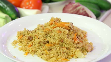 fritos : Fragrant pilaf with meat and vegetables