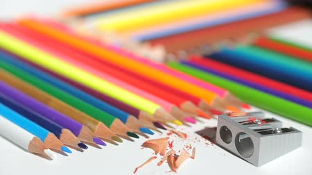 peper : Color pencils and pencil sharpener