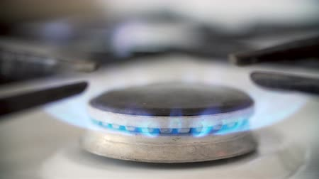 profundidade de campo rasa : Kitchen Gas Burner