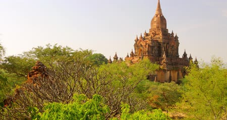 mianmar : View of ancient Buddhist temple in Bagan, Myanmar Burma. Famous landmark and popular travel destination