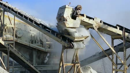 macadam : Stones crushing and gravel production on mining quarry in Myanmar, Burma. HD video footage Stock Footage