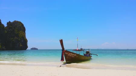 thajsko : Traveling to Thailand. Island nature landscape, beach, boat and island