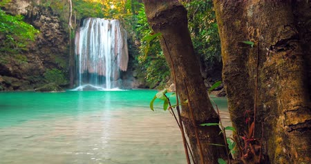kaland : Travel to Thailand adventure background. Rainforest paradise beautiful nature