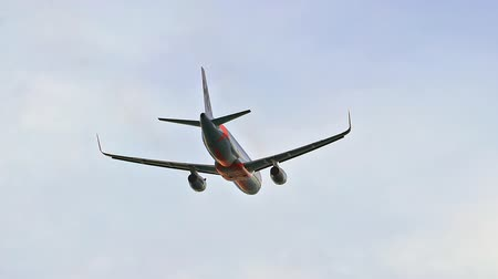 altitude : Jetstar australian airplane departs flying in sky