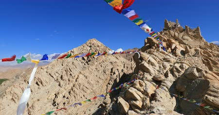 tybet : Ancient Buddhist monastery in Leh, Ladakh, India. Spituk Gompa traveling site and tourist landmark