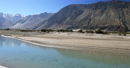 India, Ladakh - Shyok river in Nubra Valley at dry autumn season