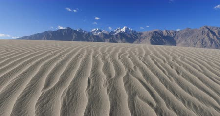 Mountain desert in Himalayas Ladakh India. Extreme nature and climate of north country highlands Stok Video