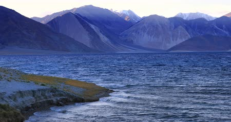 tybet : Pangong Tso Lake India Ladakh Himalaya mountains. Majestic nature of north country highlands