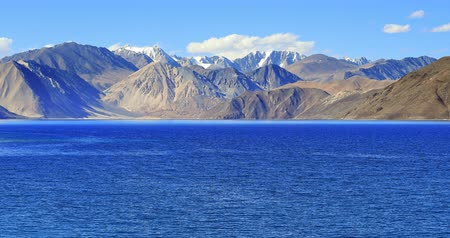 tibet : Epic nature view of Himalayas mountain lake Pangong Tso