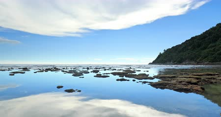 Phuket island rocky coast. Idyllic nature of tropical sea in Thailand, Asia