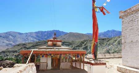 Buddhist monastery Basgo gompa in Ladakh, India