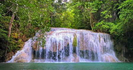 pristine : Beautiful waterfall in Thailand jungle forest