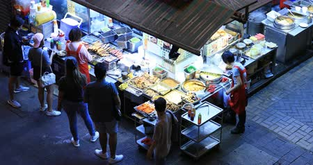 kari : Variety Of Street Food Sold On Night Market In Hong Kong Dostupné videozáznamy